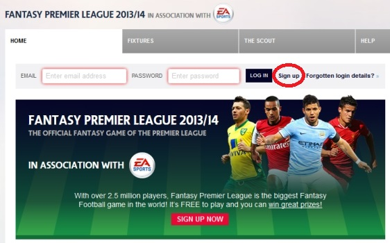 FANTASY PREMIER LEAGUE 2013